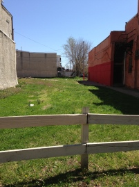 Germantown Ave vacant lot - well-kept